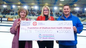 Donation - Sandra Schmirler Foundation to Chatham-Kent Health Alliance Foundation, Saturday September 29, 2018